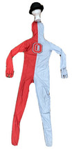 Ohio State Morph Suit 2nd Skin Halloween Costume Kids Size Large 10/12 Hat Red - $22.49