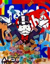 "Alec Monopoly Print on Canvas Urban art wall decor Facebook 28x36""  - $32.21"
