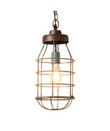 Industrial Cage Light Pendant - $68.55