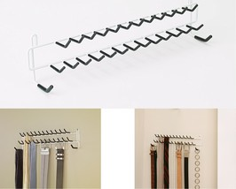 Tie Belt Rack White lightweight Hanger Holder A... - $11.83