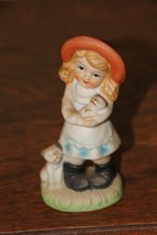 Vintage Little Girl with Dog and Puppy Figurine - $9.41