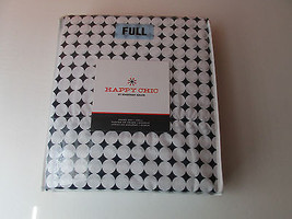 New Happy Chic Jonathan Adler Full Size White & Navy Print Cotton Poly S... - $64.23