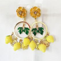 Retro Fashion Hollow Leaf Tassel Earrings Long Big Hanging Luxury Vintag... - $21.97