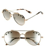 GIVENCHY GV7057 STARS DDB AVIATOR SUNGLASSES GOLD COPPER NEW AUTHENTIC - $215.00