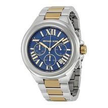 Michael Kors Women's Watch Ladies Steel Bracelet Chronograph Blue Dial MK5758 - $218.09