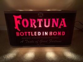 1940s Fortuna Kentucky Bourbon Whiskey Flashing Motion Display Sign Ligh... - $495.00