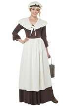 Adult Colonial Village Woman Costume Large 10-12 Renaissance Medieval Pe... - £20.59 GBP