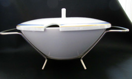 Rosenthal Gala Blue Classic Rose TUREEN/Bowl & Lid & Stand Loewy Mid Century Mcm - $94.04