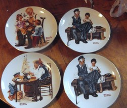 Norman Rockwell Beloved Classics 1982 Limited Edition Plates (4) - $11.30