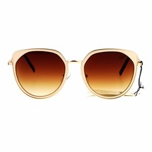 Designer Fashion Sunglasses Womens Metal Retro Half Round Frame UV 400 - $10.75