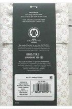 "King Pillowcase set soft organic cotton 300tc white pink print 40""x20"" Threshold image 2"