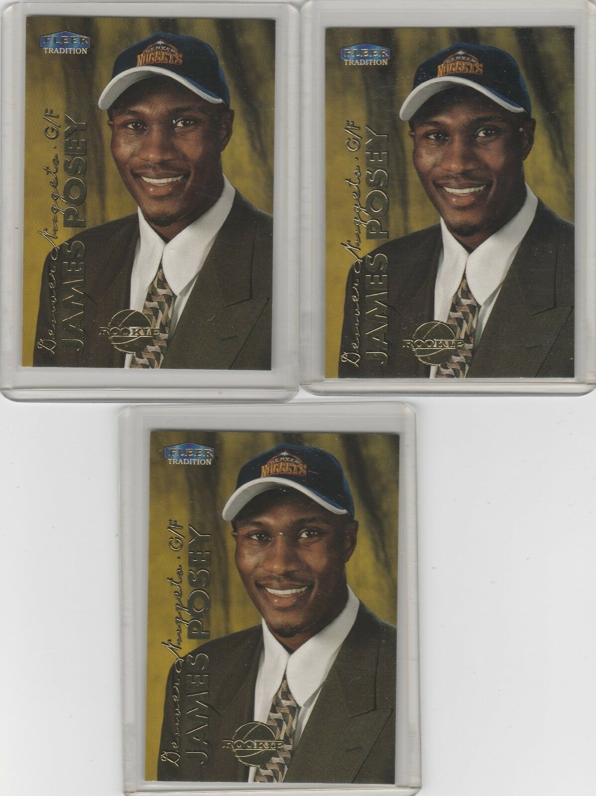 1999-00 Fleer Tradition  #208 James Posey RC Lot of 3