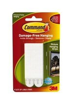 Command Large Picture-Hanging Strips, White, 24-Sets image 2