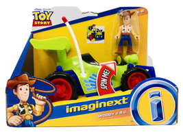 Disney Toy Story Woody & RC Vehicle Set With Moving Eyes By Imaginext NEW - $20.89