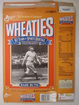 Empty WHEATIES Box 1992 12oz BABE RUTH Collectors Edition [Z202g1] - $3.99