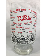 "Vintage 1970s Large CBer Beer Glass 7"" Tall 3.75"" Wide With CB Sayings - $9.89"
