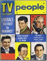 ORIGINAL Vintage January 1955 TV People Magazine Liberace Too Busy for R... - $27.86