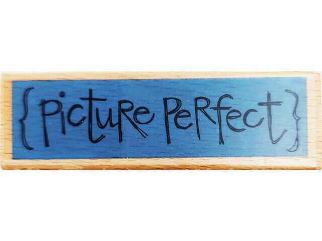 Kolette Hall {Picture Perfect} Wood Mounted Rubber Stamp