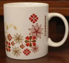 Starbucks Coffee Mug 12 oz Cup Christmas Winter Holiday Red White Gold 2... - $6.14