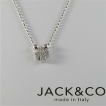 Chain to Rings Silver 925 Jack&co Clover with Cz JCN0528 image 1