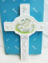 Roman Jesus Loves Me porcelain Christian cross for child baby #5512 MIB ... - $6.50