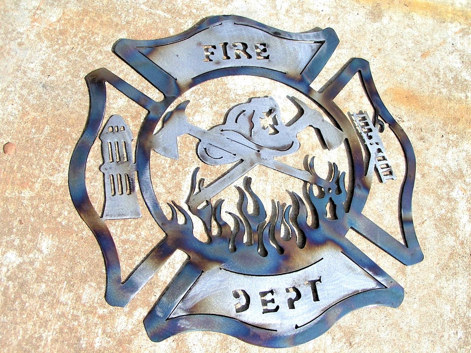 Firefighter Maltese Cross Sandstone Coasters Metal Holder /& Soft Car Coaster