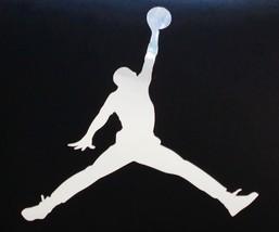 Jordan Air Jump Man CHROME 2 SIZES Basketball Nike Car JDM Truck NBA Decal - $2.98+