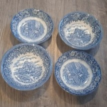 Old English Blue and White Bowl 4 bowls 5 inch  - $35.52