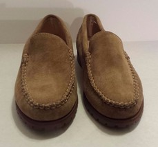 EDDIE BAUER SAND  SUEDE SLIP ON LOAFERS NEW  SZ 6M Women's Shoe - $19.34
