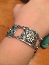 vintage sterling silver  Bracelet Native American? Mexico? Perusing? - $79.23