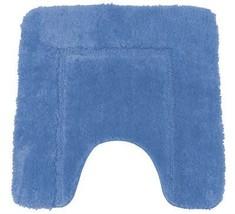 weich blau Cashmere-feel Chenille rutschfest Badezimmermatte 50 x 50cm - $14.01 CAD