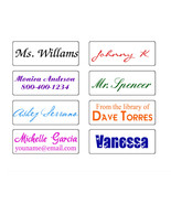 custom name self inking pre ink personalized signature teacher rubber stamp - $5.93