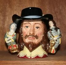 """Royal Doulton Large Character Jug """"King Charles I"""", Limited Ed. of 2500 - $235.00"""