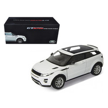 Range Rover Evoque White With White Roof 1/18 Diecast Car Model by Welly... - $120.86