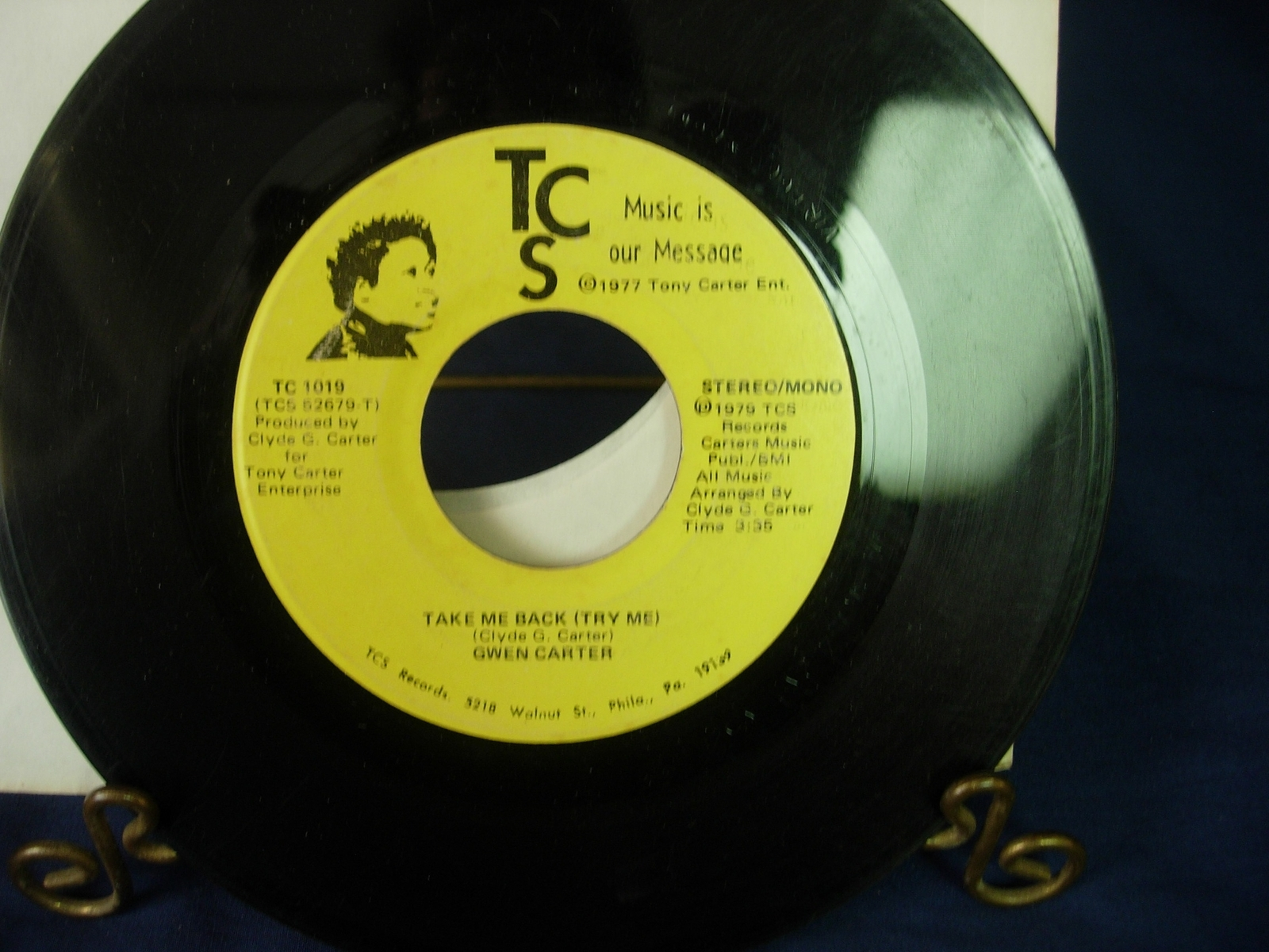 Gwen Carter - Take Me Back (Try Me) -TCS Records TC1019