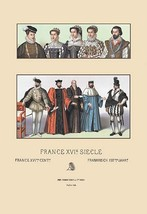 Costumes of the French Magistrate, Sixteenth Century by Auguste Racinet - Art Pr - $19.99+