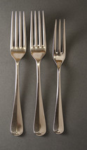 Cooper Bros Queen Anne forks  2 dinner 1 salad  glossy England - $53.45