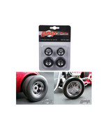 18841 Chromed Hot Rod Drag Wheels and Tires Set of 4 1/18 by GMP - $23.92
