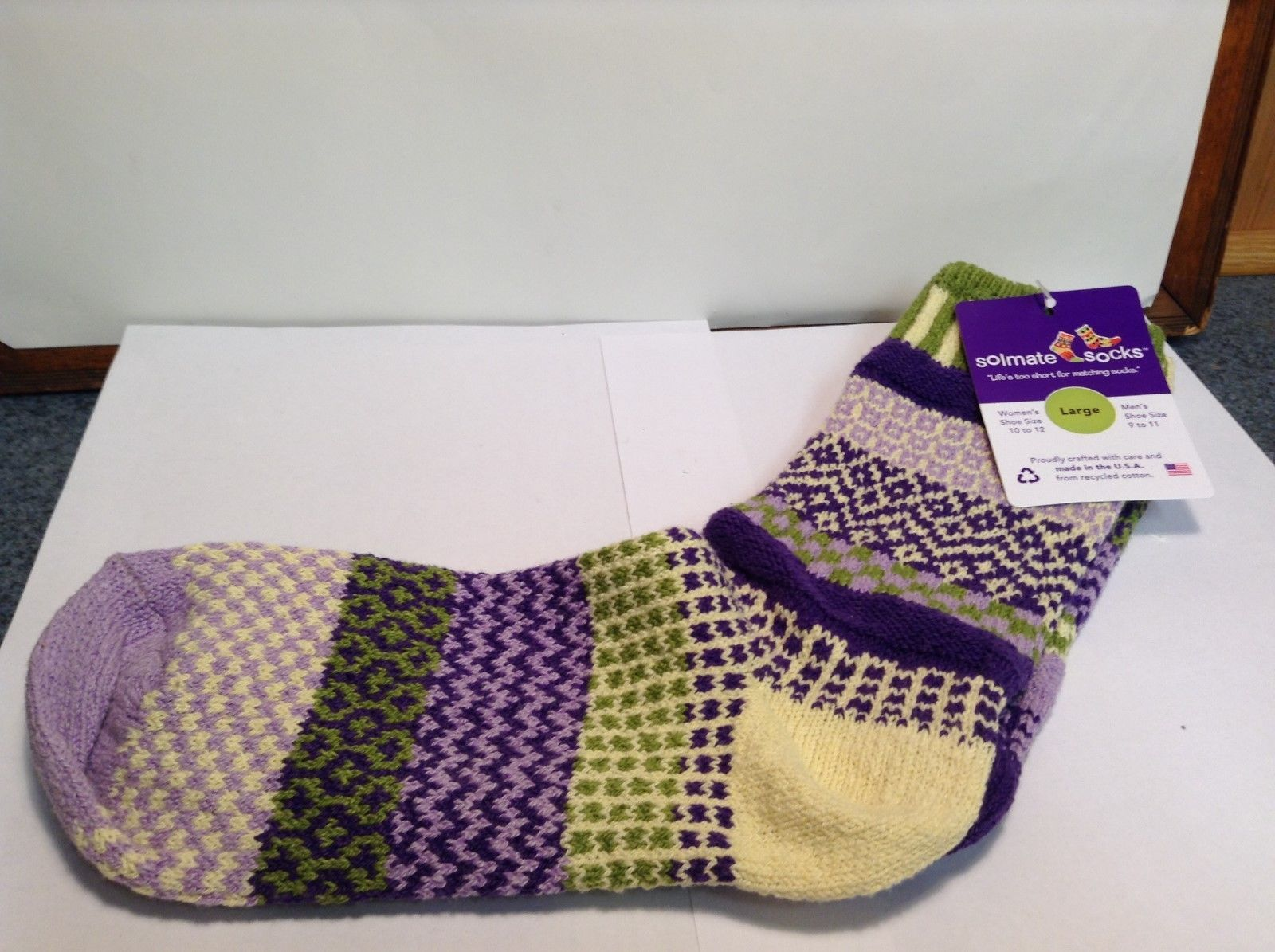 NEW Solmate Multicolor Highrise Socks Sz LG