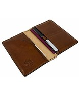 Time Resistance Leather Passport Holder | Case, Cover for Travel Documen... - $29.19