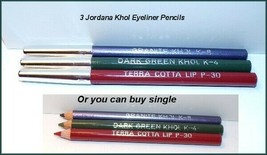 "NEW ""JORDANA"" Elegant Lip/Eye Liner Pencil Set  Terra Cotta ~Dark Green ~Ganite  - $4.25+"