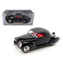 1939 Lincoln Zephyr Black 1/18 Diecast Model Car by Signature Models 181... - $69.74