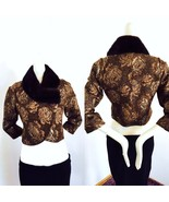 NWT Sandy Pino (SPI 25) Canada short bolero wool jacket natural mink col... - $247.50