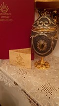 Emu Egg Faberge Egg Style Russian Egg Trinket Box Antique Jewelry Box 1992 Hamde - $999.00