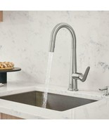 GROHE Veletto 1-Handle Pull-Down Dual Sprayer Kitchen Faucet w/ Soap Dispenser - $187.11