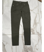 SKY Boys Olive Green Skinny Pants With Pockets Size 8 100% Cotton - $11.26