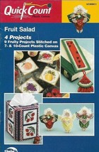 Fruit Salad 4 Projects Quick Count in Plastic Canvas Angels Bookmark Tis... - $5.99