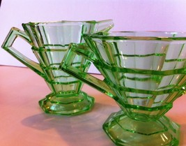 "Antique 1920's Era Indiana Glass Co ""TEA ROOM"" Sugar & Creamer Set, Pattern #600 - $64.52"