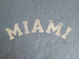 Miami Retro Faded Graphic Blue Sweatshirt Cotton Blend Size Large Champion image 4