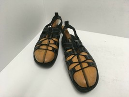 ECCO JAB Toggle Speedlace Blk Leather Comfort Sandals Womens Sz 42 EU/11... - $42.06